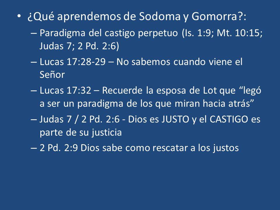 ¿Qué aprendemos de Sodoma y Gomorra :
