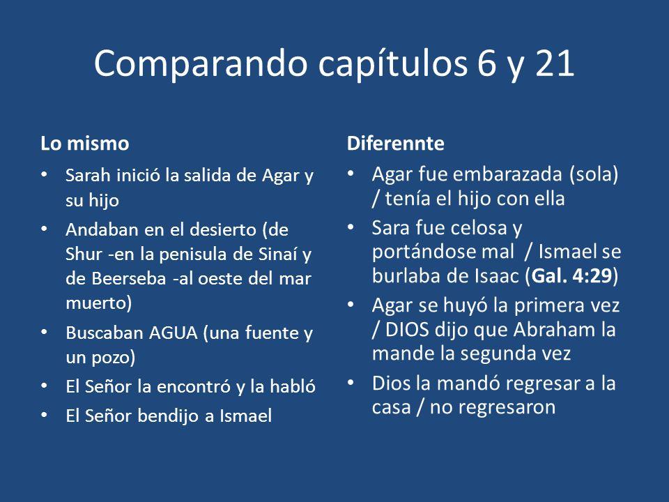 Comparando capítulos 6 y 21