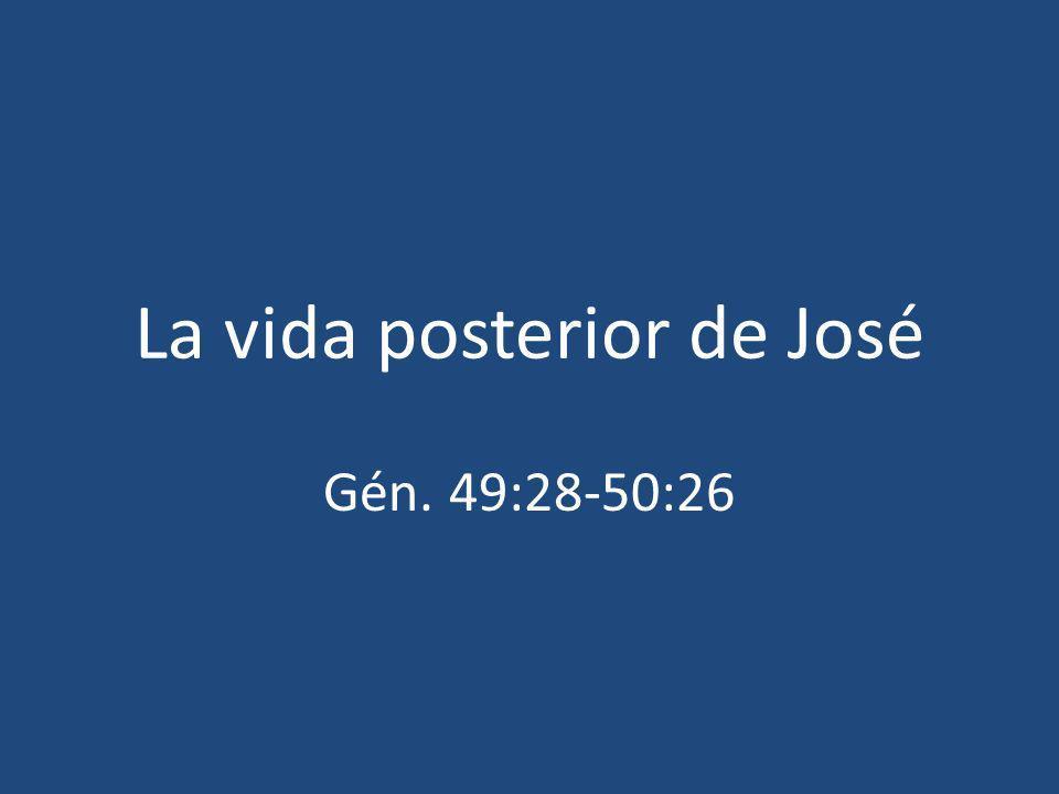 La vida posterior de José