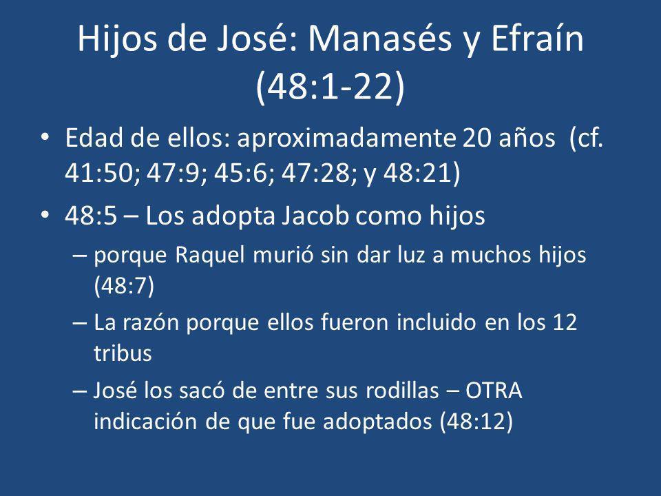 Hijos de José: Manasés y Efraín (48:1-22)