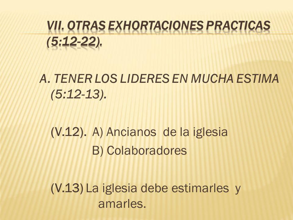 VII. OTRAS EXHORTACIONES PRACTICAS (5:12-22).
