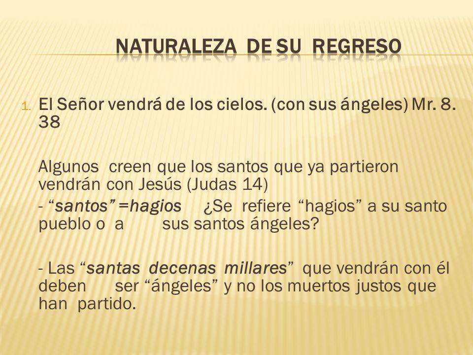 NATURALEZA DE SU REGRESO