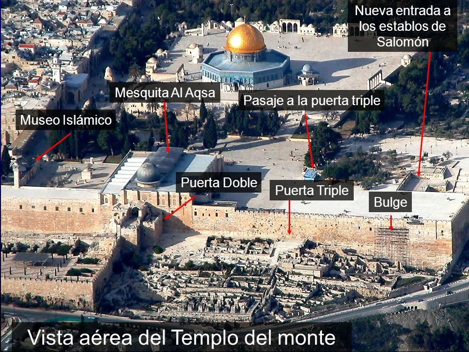 Temple Mount aerial from south close-up