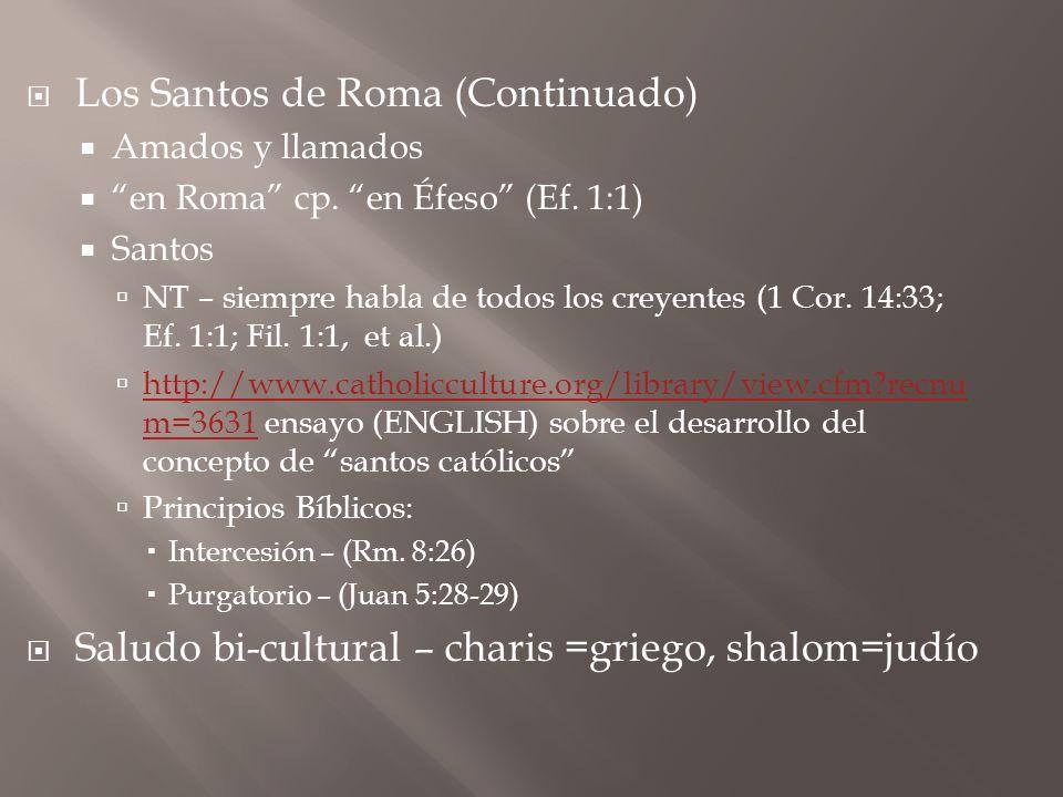 Los Santos de Roma (Continuado)
