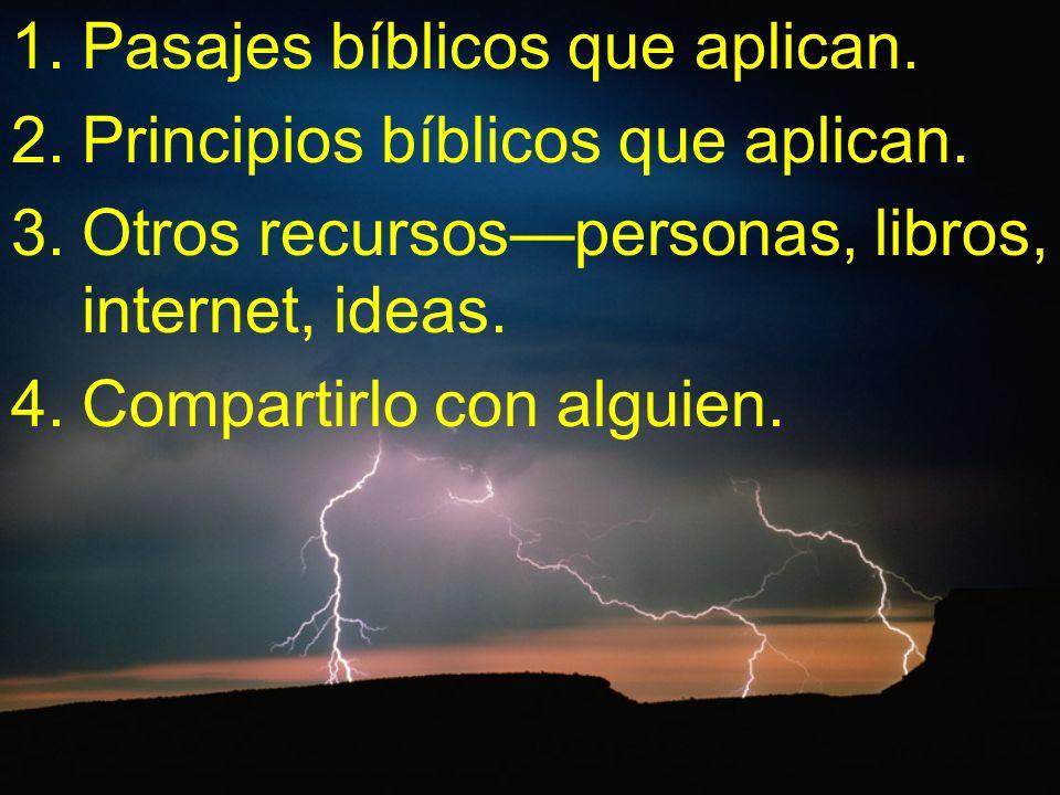 Pasajes bíblicos que aplican.