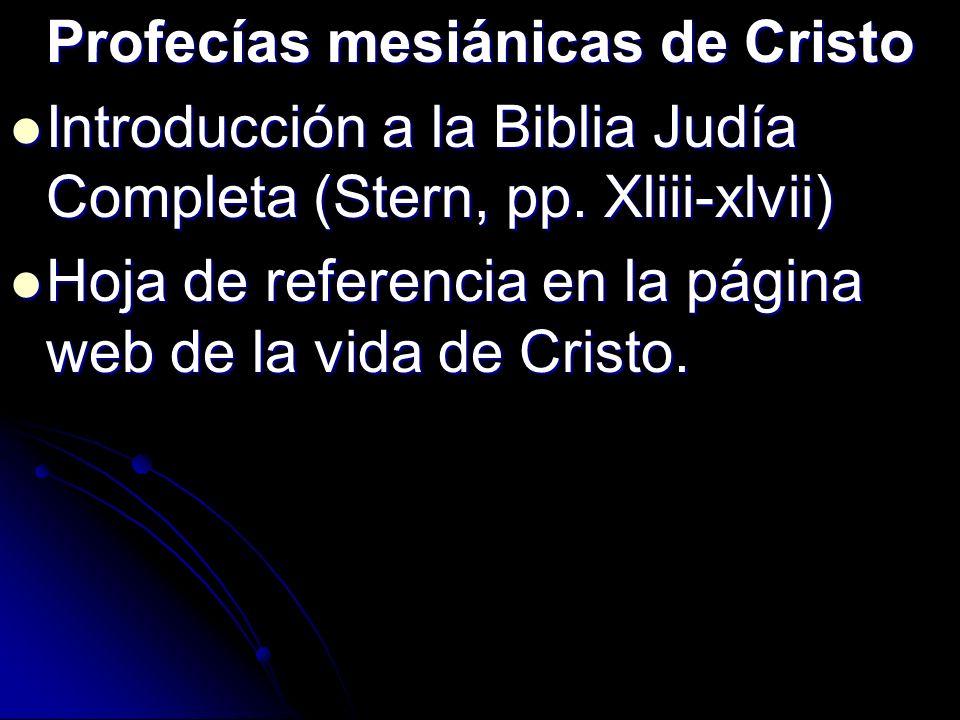 Profecías mesiánicas de Cristo