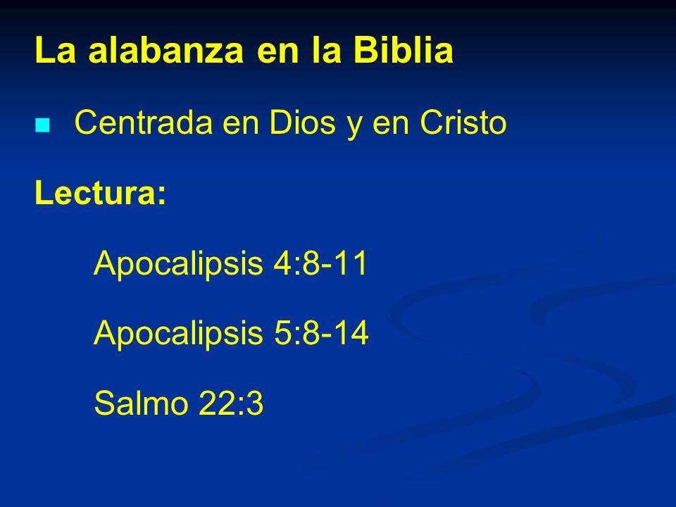 La alabanza en la Biblia