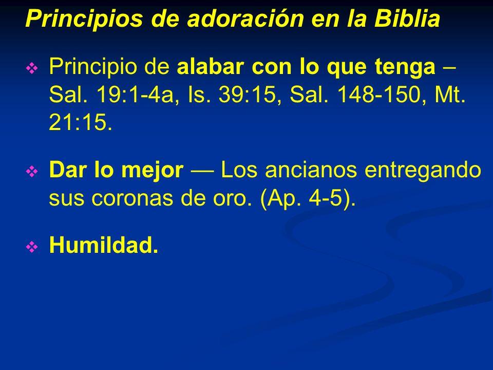 Principios de adoración en la Biblia