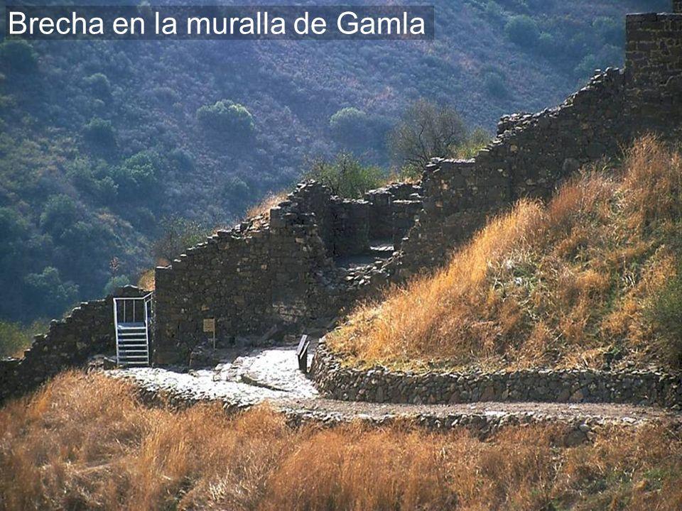 Brecha en la muralla de Gamla