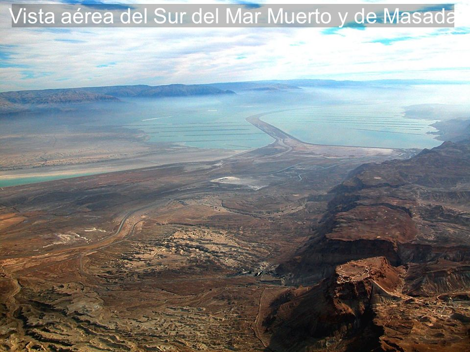 Dead Sea southern end and Masada aerial