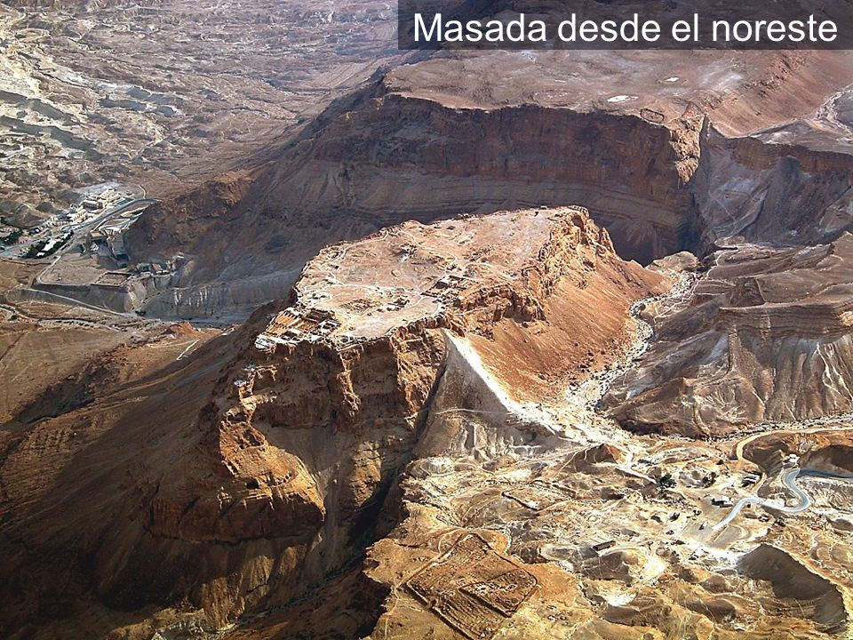 Masada aerial from northwest