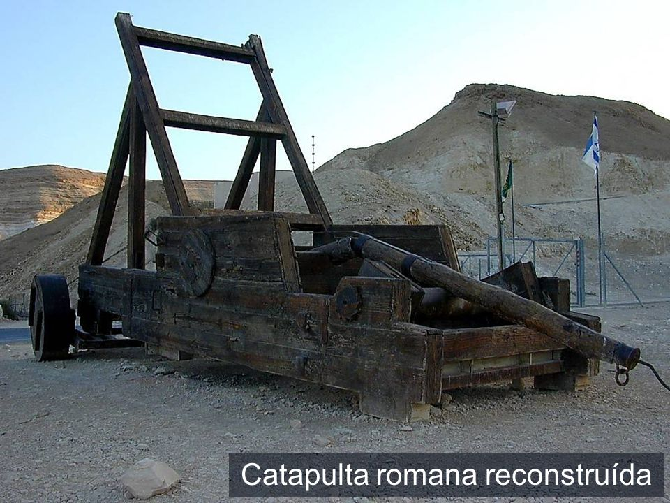 Masada catapult reconstruction