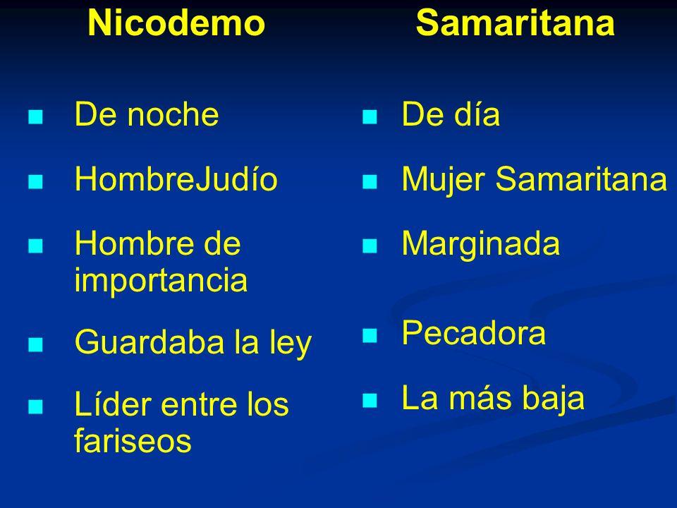 Nicodemo Samaritana De noche HombreJudío Hombre de importancia