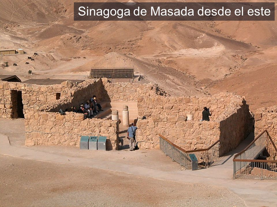 Masada synagogue from east