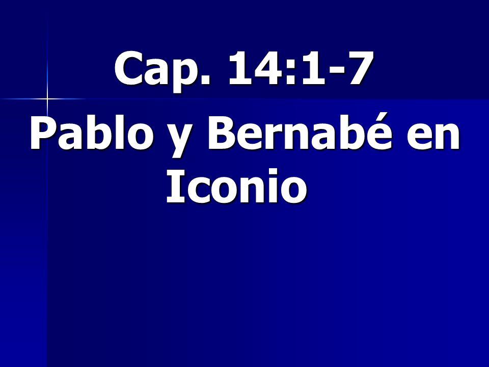 Pablo y Bernabé en Iconio