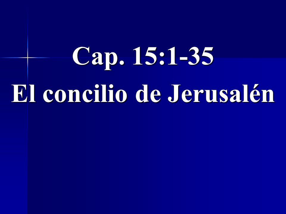 El concilio de Jerusalén