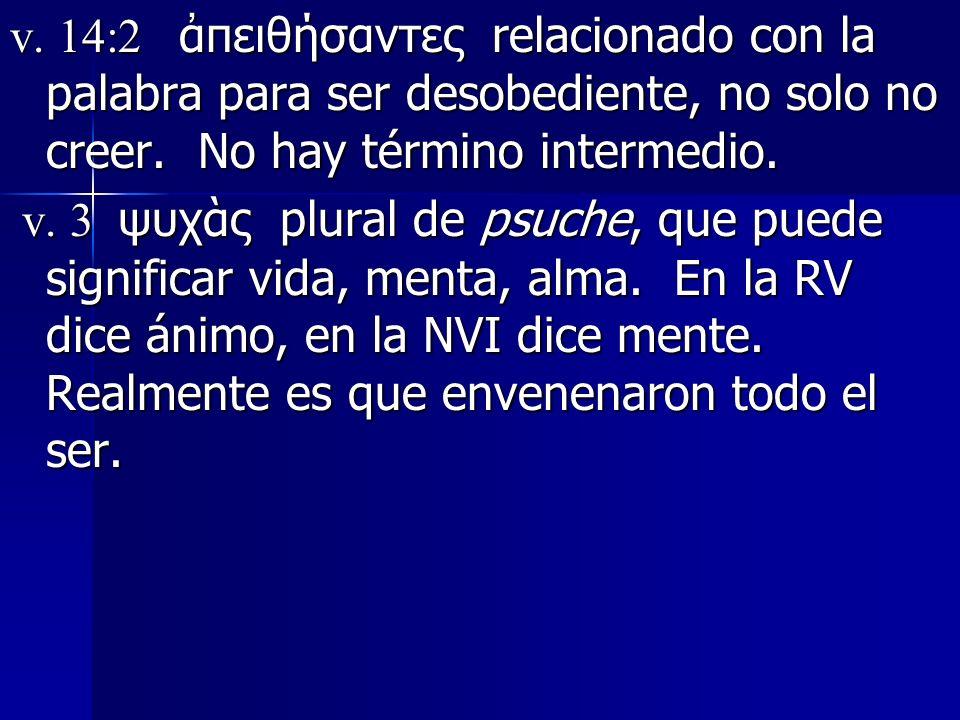 v. 14:2 ἀπειθήσαντες relacionado con la palabra para ser desobediente, no solo no creer. No hay término intermedio.