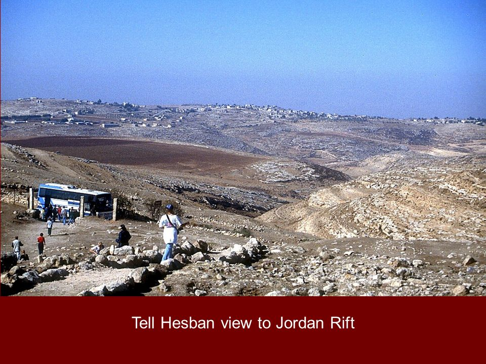 Tell Hesban view to Jordan Rift