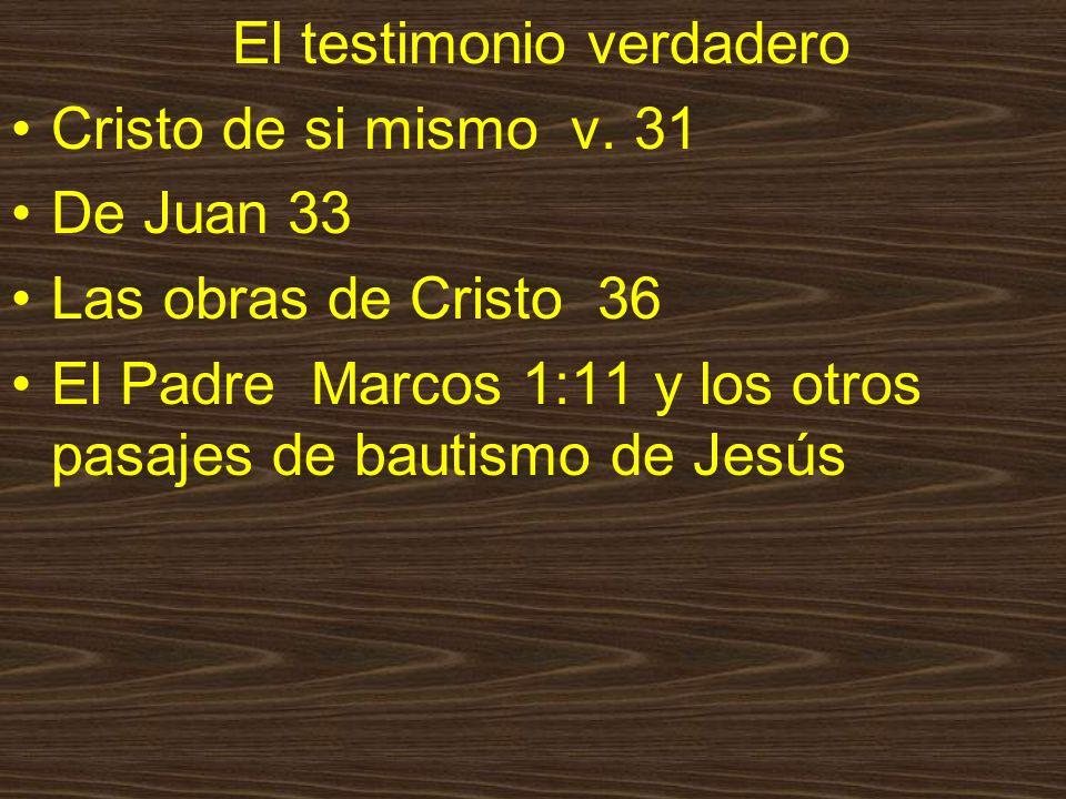El testimonio verdadero
