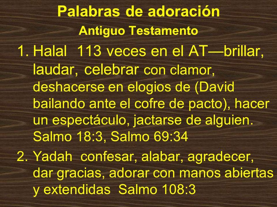 Palabras de adoración Antiguo Testamento.
