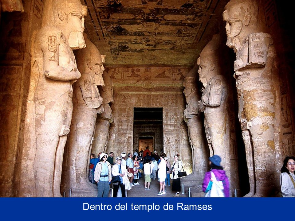 Inside Ramses II's temple