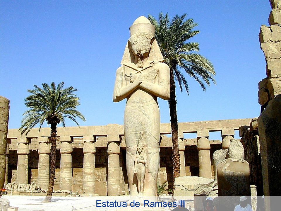 Ramses II statue in Great Court