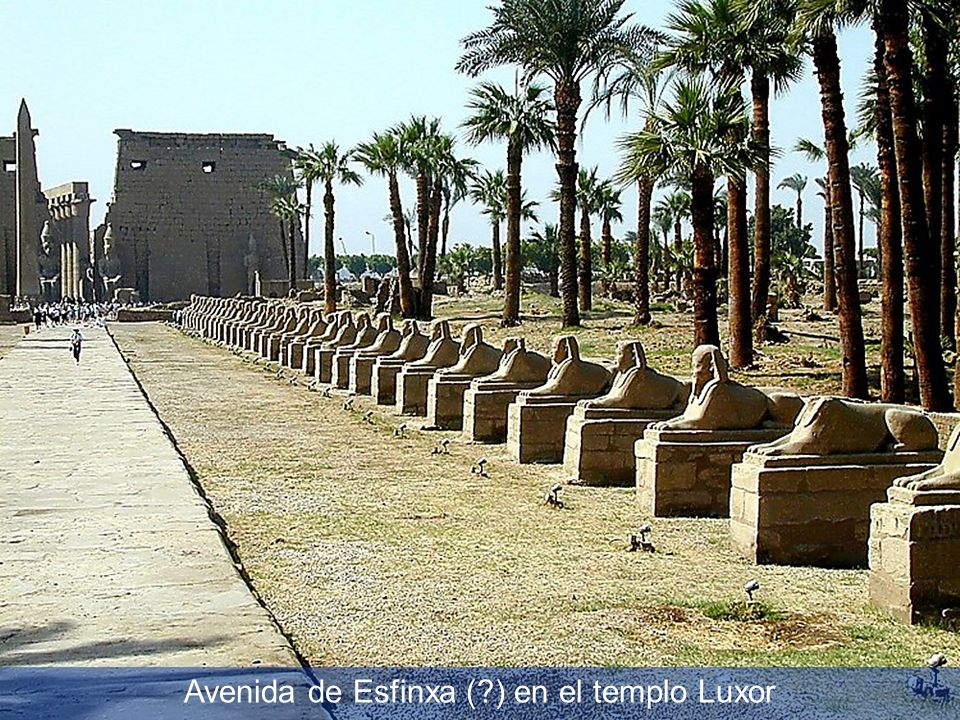 Avenue of Sphinxes with Luxor Temple