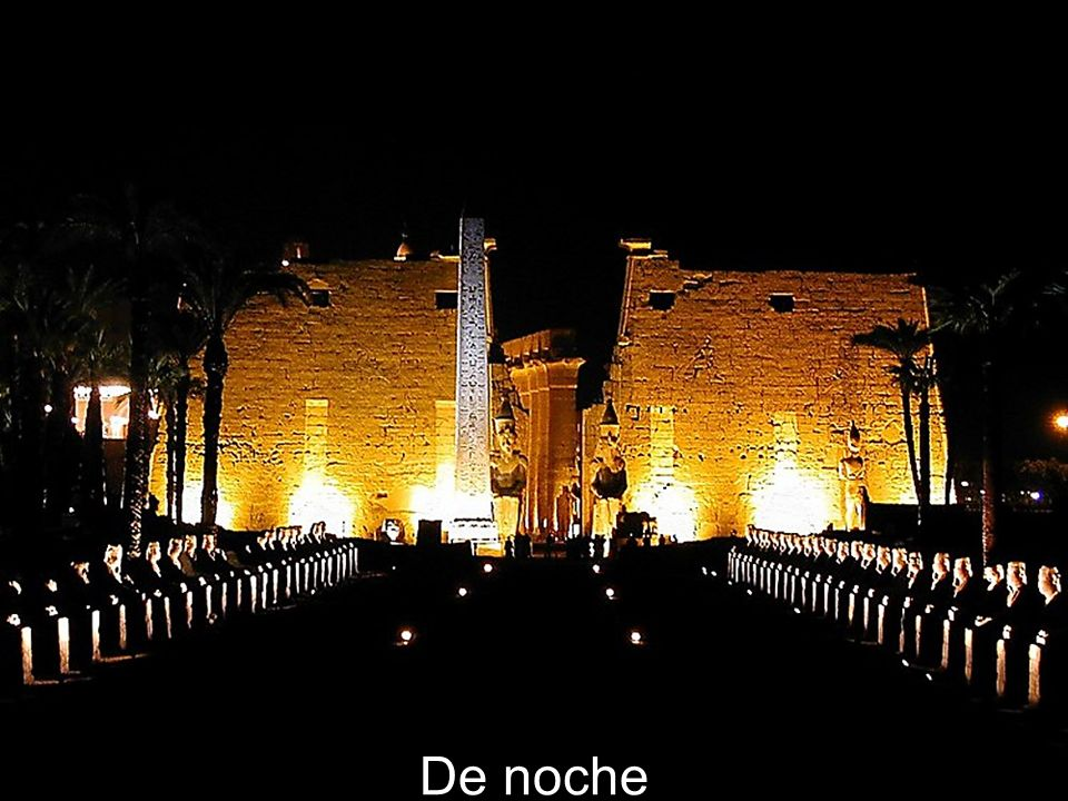 Luxor Temple facade at night