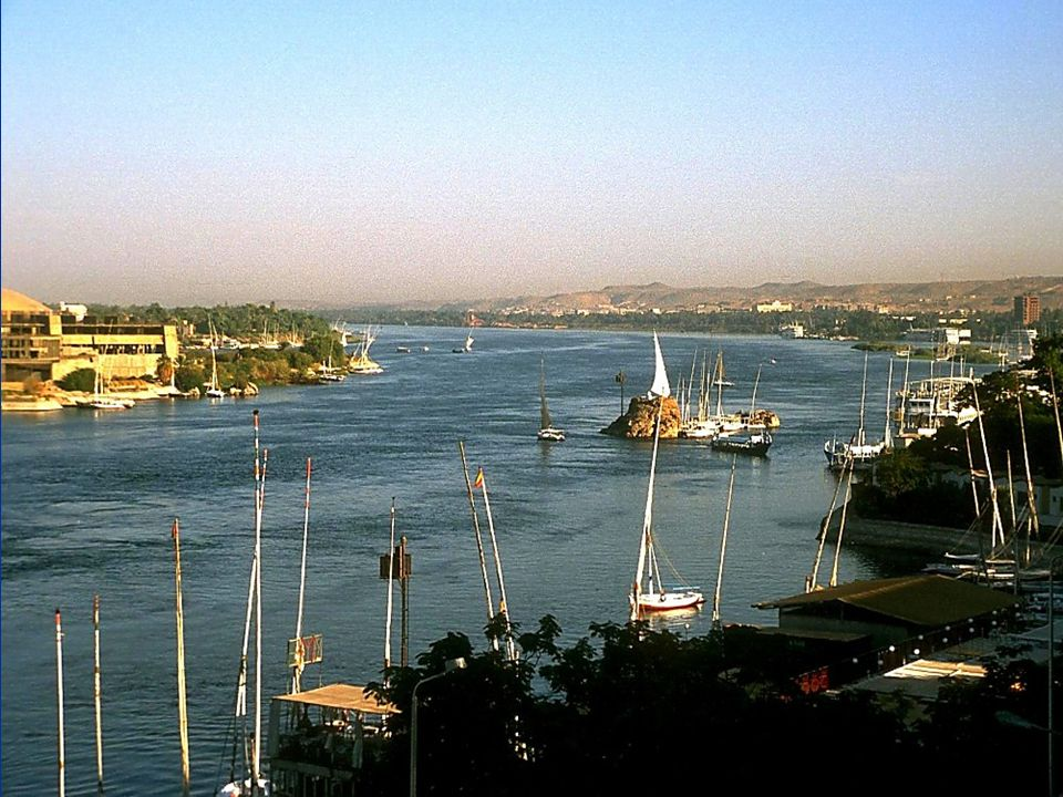 Nile River looking north in Aswan