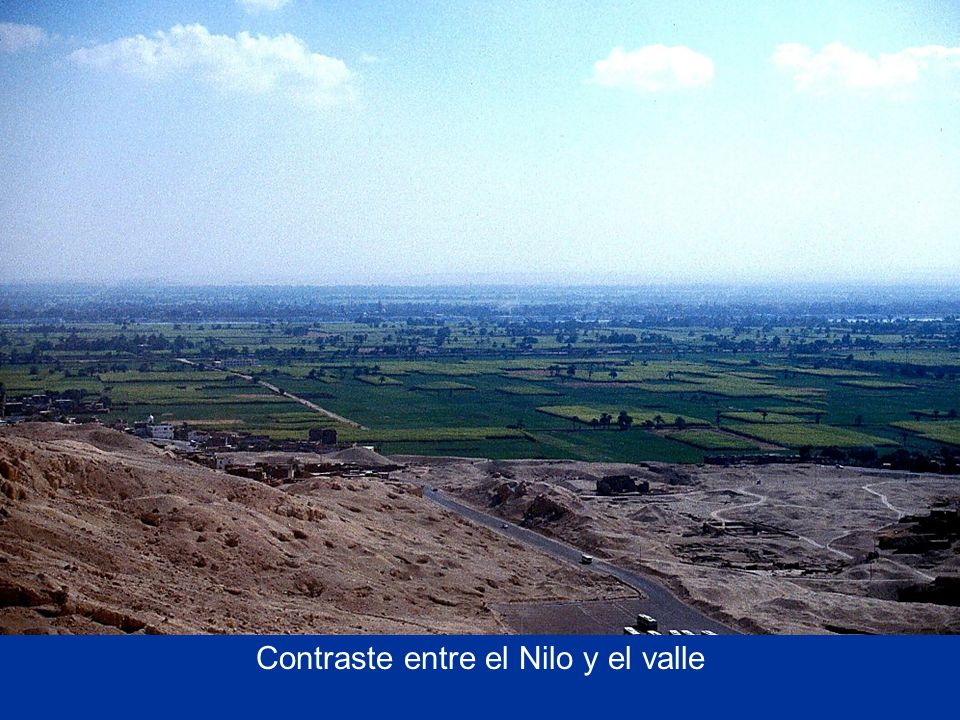 Contrast between desert and Nile River Valley