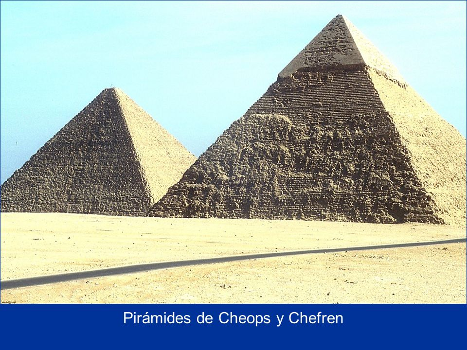 Cheops' and Chefren's Pyramids