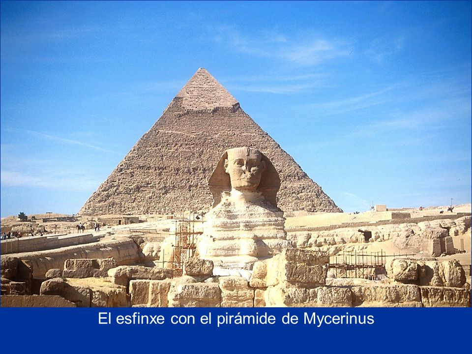 Sphinx with Chefren s Pyramid