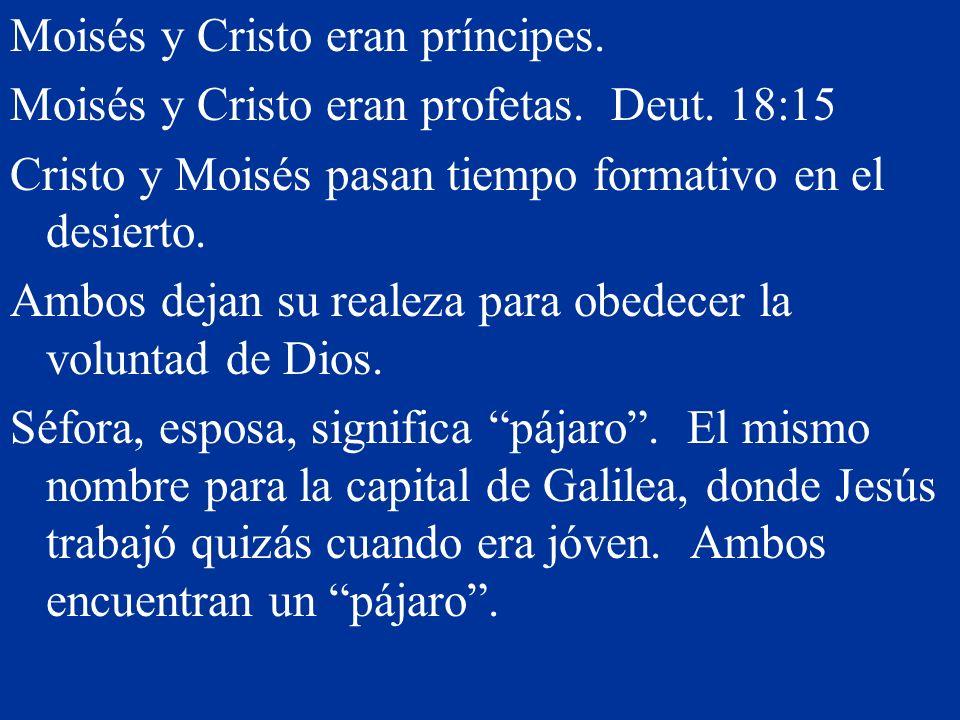 Moisés y Cristo eran príncipes.