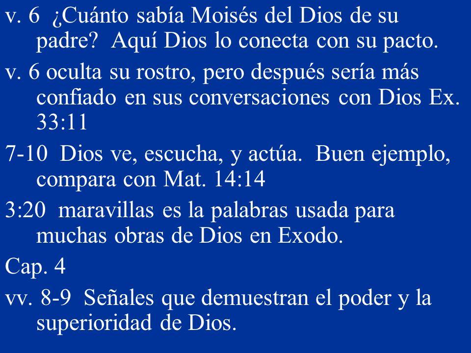 v. 6 ¿Cuánto sabía Moisés del Dios de su padre