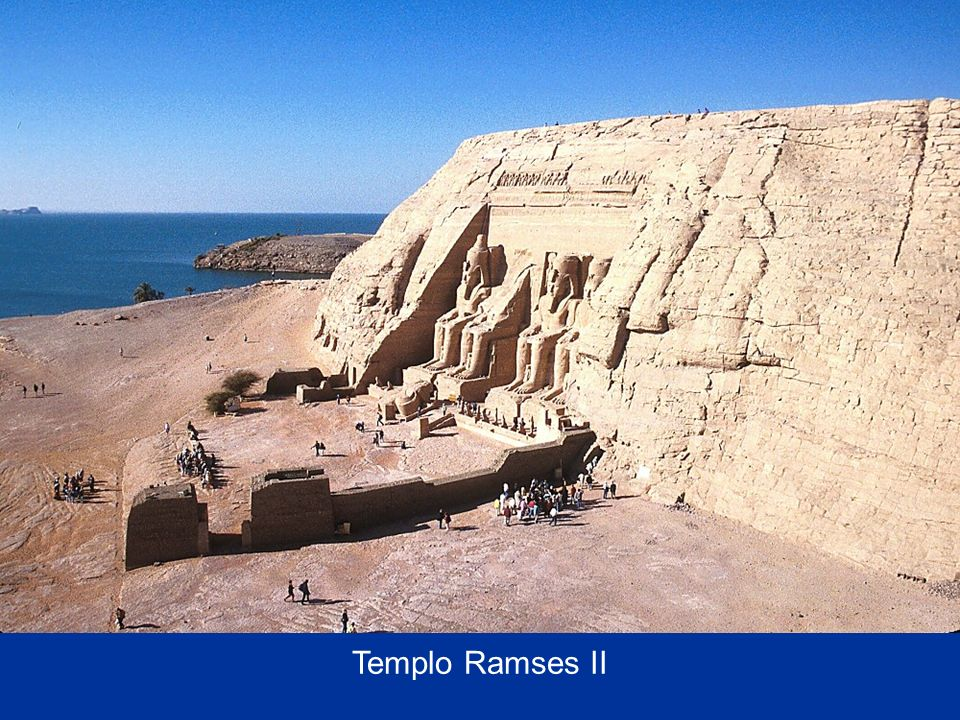 Ramses II temple from top of Hathor temple