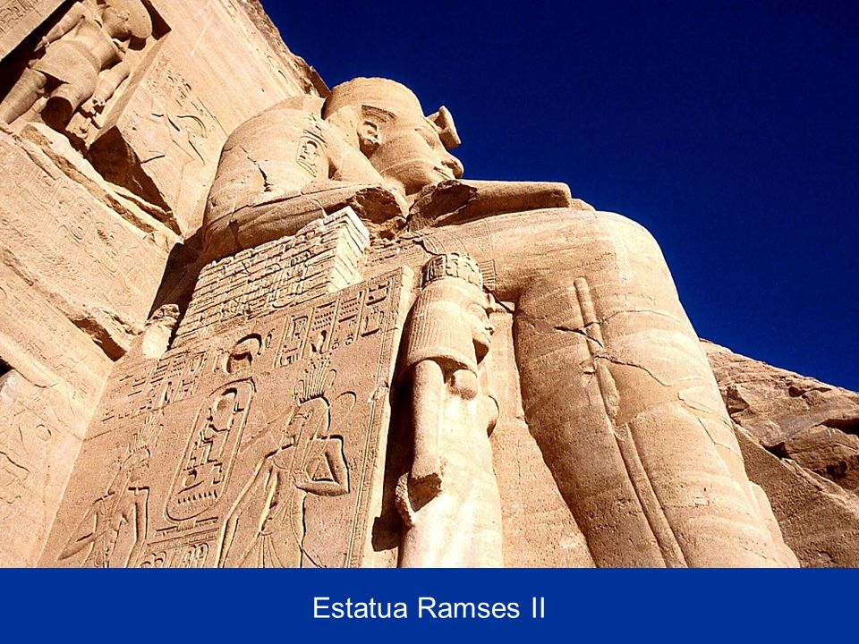 Ramses II statue from below