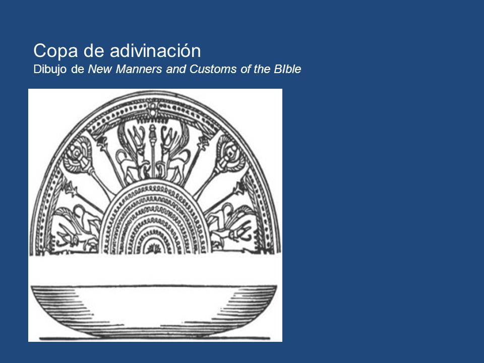 Copa de adivinación Dibujo de New Manners and Customs of the BIble