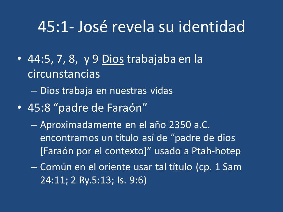 45:1- José revela su identidad