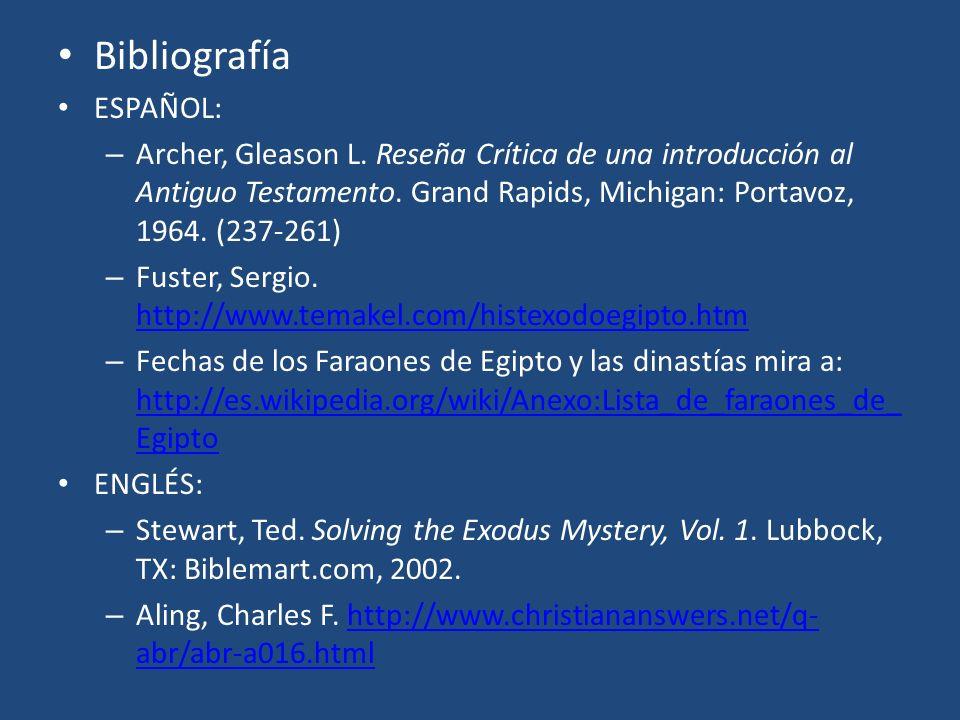 Bibliografía ESPAÑOL: