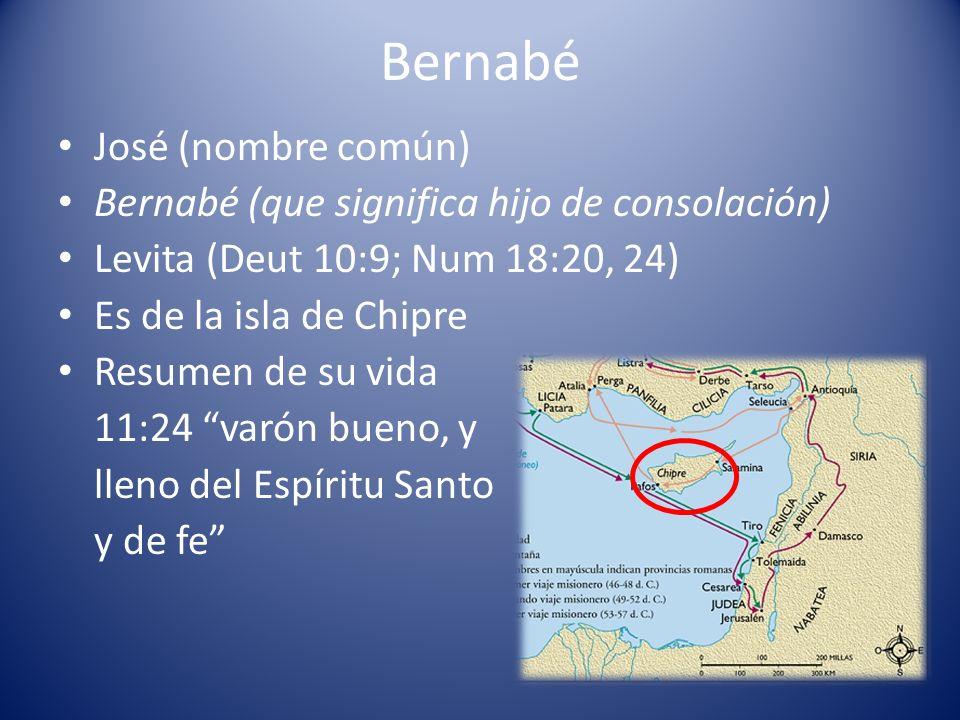 Bernabé José (nombre común)