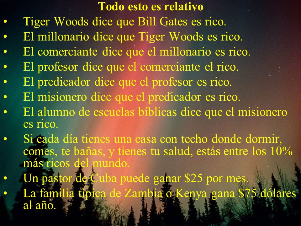 Tiger Woods dice que Bill Gates es rico.