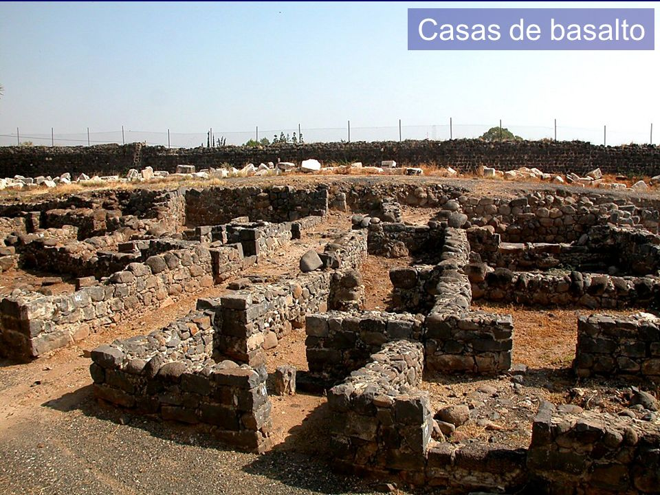 Capernaum basalt houses