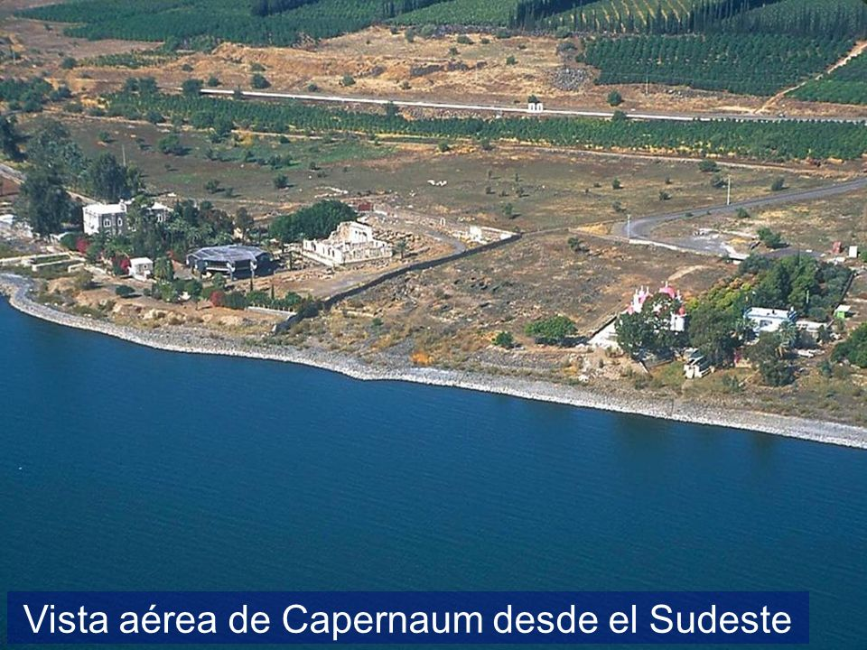 Capernaum area aerial from southeast