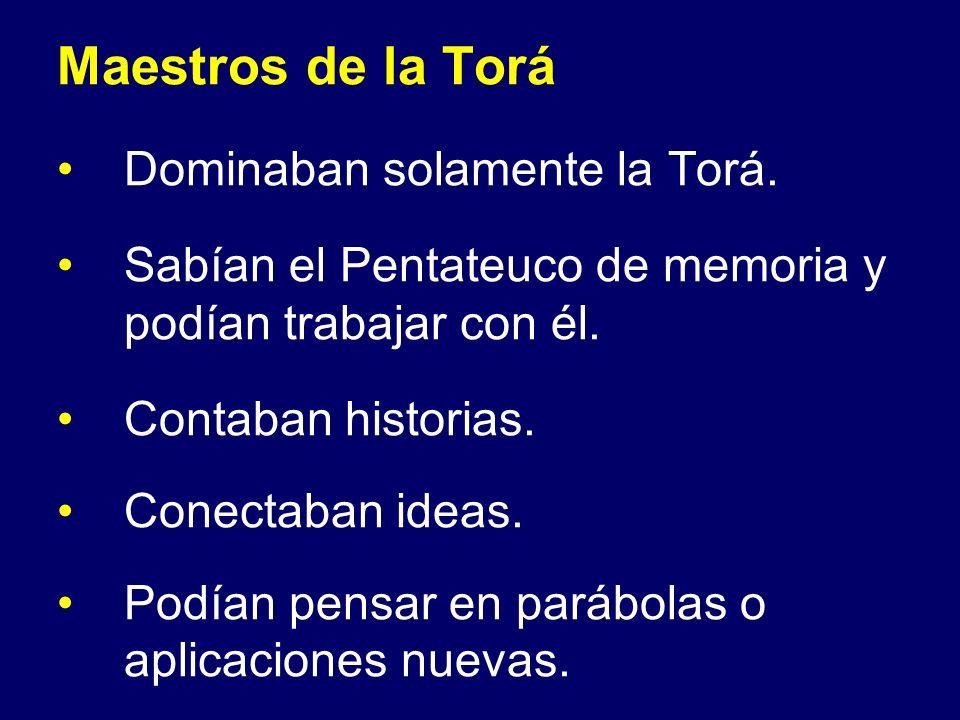 Maestros de la Torá Dominaban solamente la Torá.