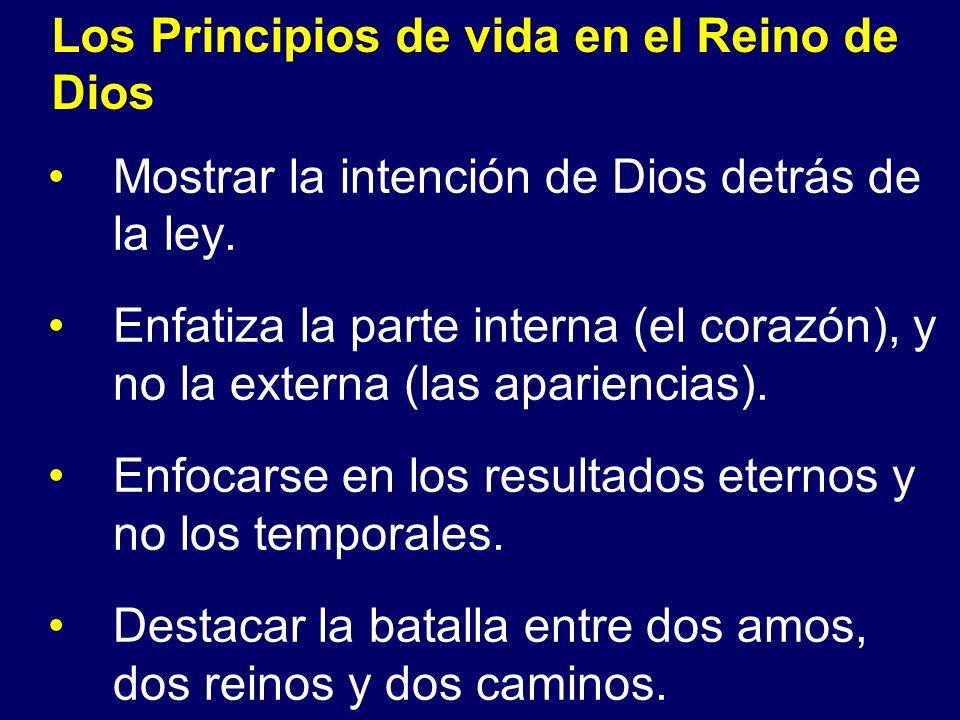 Los Principios de vida en el Reino de Dios