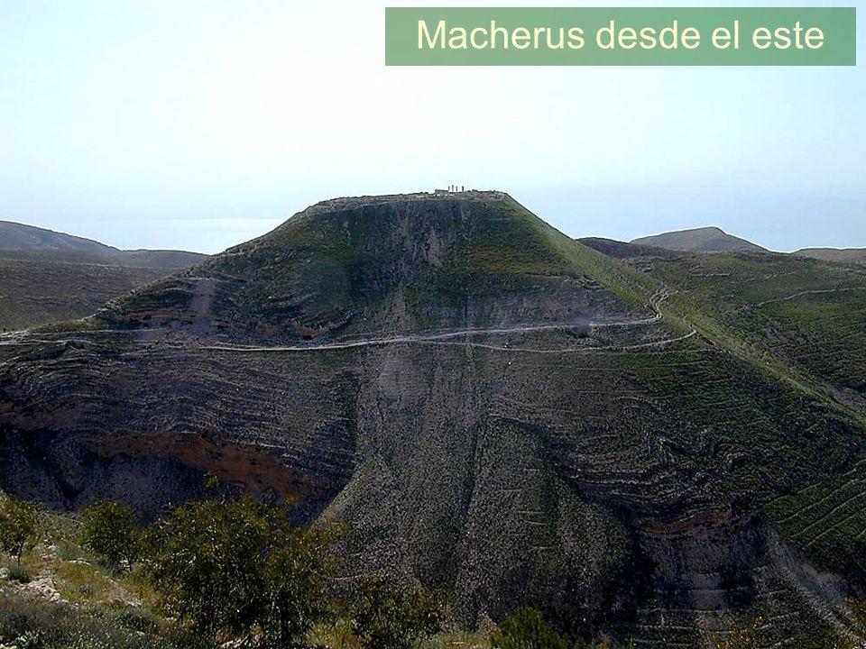 Macherus desde el este Macherus from east Machaerus