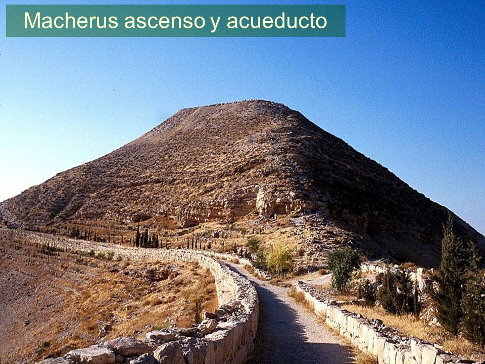 Macherus ascent and aqueduct