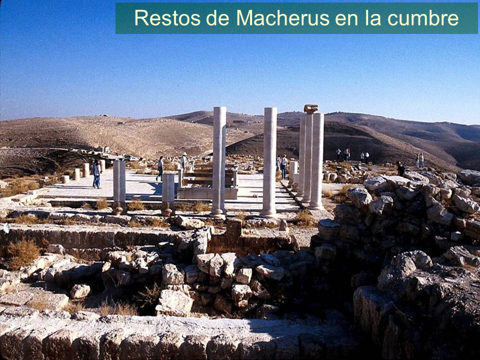 Macherus remains on summit