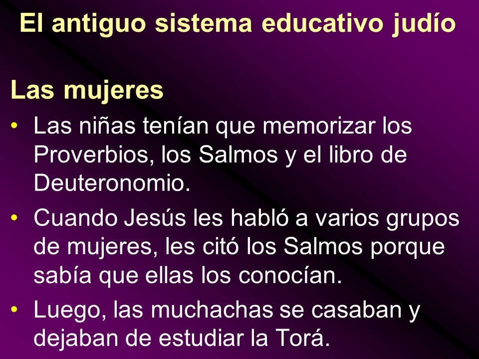 El antiguo sistema educativo judío