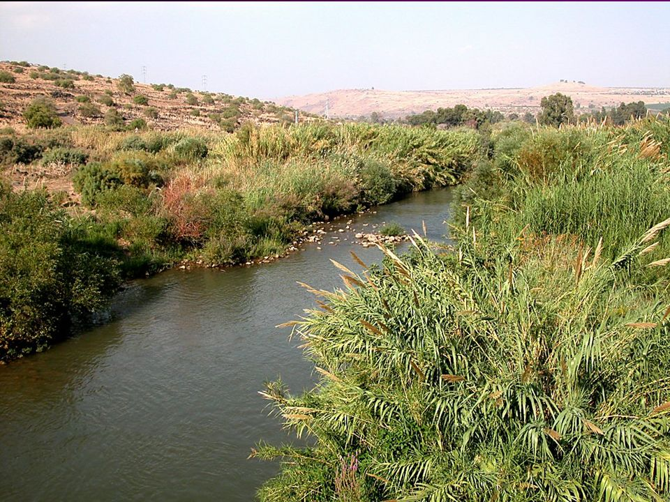 Jordan River north of Sea of Galilee